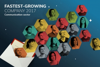 Flexmail wint award 'Fastest-growing company 2017 in sector Communicatie'